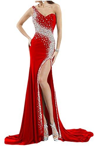 Toscana sposa bianchissima Rueckenfrei kraftool Chiffon sera abito lungo un'ampia Party ball vestimento Rot