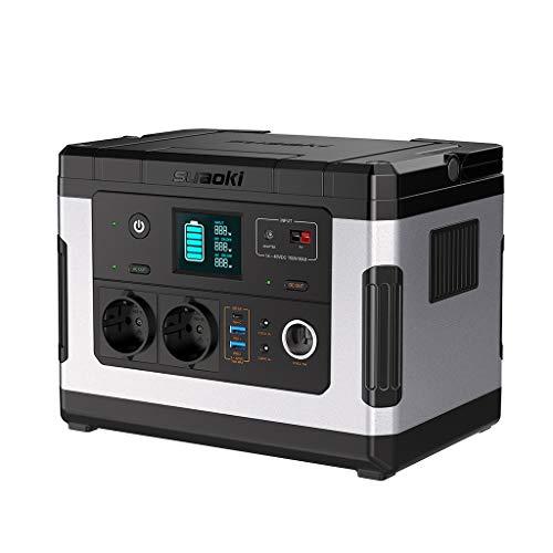 SUAOKI G500 Portable Power Station 500Wh Solargenerator Lithium-Netzteil mit Wechselrichter 300W, 12V DC, 12V Auto, USB/Typ-C-Schnellladeanschluss für den Notfall-Camping CPAP Outdoor -