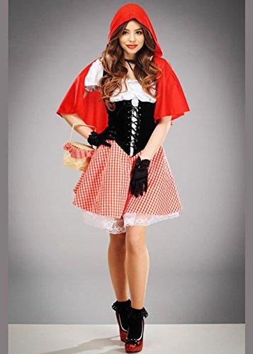 Magic Box Int. Womens Cute Red Riding Hood Kostüm Large (UK 16-18)