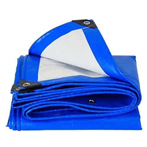 KYCD Abdeckplane Blaue Tarp mit Ösen, Wasserdichte leichte Plane Dach Pool Bike Dump Trailer Cover Ablauf, 11 mil (größe : 5M×6M) -