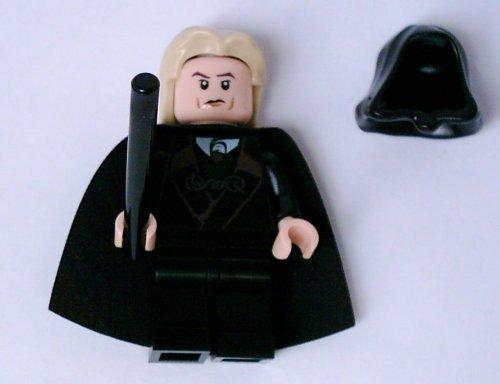 LEGO Harry Potter - Lucius Malfoy, con doble cara, pelo, capucha y var