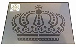 Solitarydesign Shabby chic stencil Ornate Crown Rustic Mylar Vintage A4 297x210mm wall furniture art