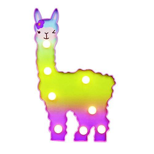 Farbiges LED Alpaka Nachtlicht Tiere Nachtlicht Romantische Atmosphäre Lampe Halloween Christmas Party Dekoration(Warmweißes Alpaka)