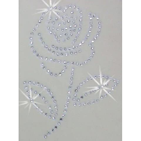 Fleur rose clair thermocollant Strass transfert Patch