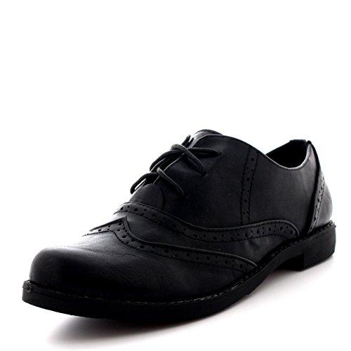 Mujer Abarcas Gorra De Ala Trabajo Vintage Formal Diseñador Oficina Zapatos Planos - Nero - UK6/EU39 - KL0080