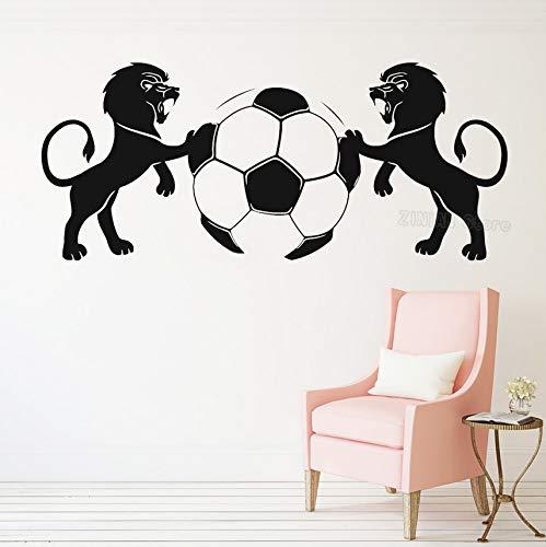 Lions Soccer Ball Vinyl Sticker Sport Art Mural Home Interior Decoration Wallpaper98x42cm Mermaid Ball