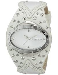 Police Vamp P11600MS-01 - Reloj de mujer de cuarzo, correa de piel color blanco