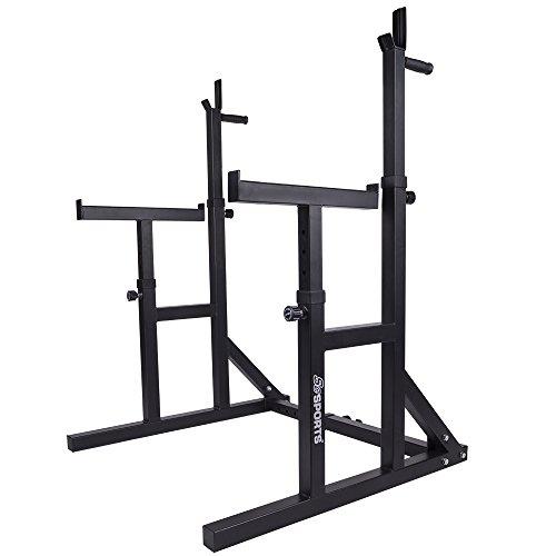 ScSPORTS Multi Squat Rack / Multipresse / Kniebeugenständer mit Hantelablage und Dip-Griffen, verstellbar