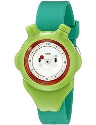 Alessi AL23004 - Reloj para niño, correa de plástico color verde