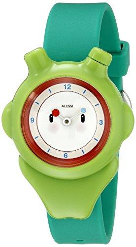 Alessi - AL23004 - Montre Mixte Enfant - Automatique - Analogique - Bracelet Plastique Vert