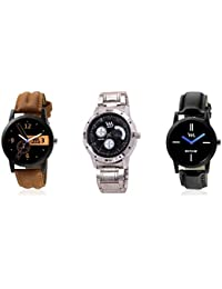 Watch Me Gift Combo Set Of Analog Watches For Men And Boys WMC-001-WMC-002-AWC-010 WMC-001-WMC-002-AWC-010omtbg