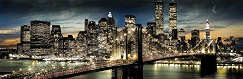 1art1 48068 New York - Manhattan, Mondschein Tür-Poster (158 x 53 cm) -