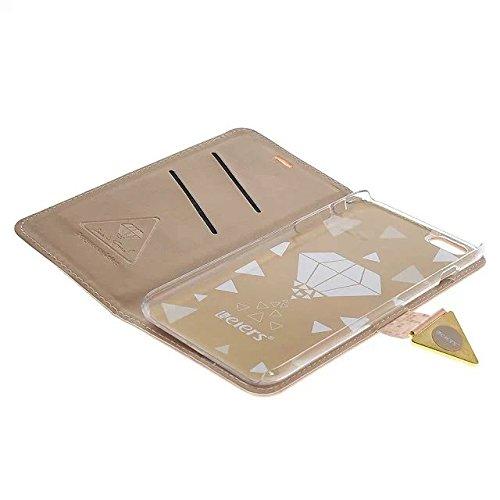 iPhone 6S Coque ,Flip Case Cover Coque de Protection pour iPhone 6 6S (4,7 Pouces) Étui en Cuir Protecteur Portefeuille Housse avec Support Fonction,Rose Rose