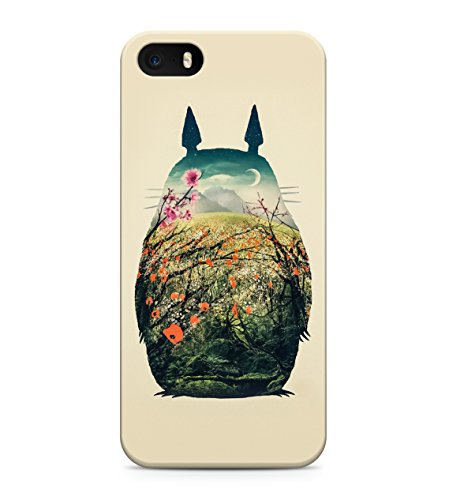 My Neighbor Totoro Nature Hard Plastic Snap On Back Case Cover For iPhone 5 / 5s Custodia
