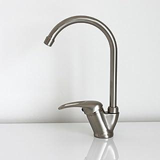 Stahl gebürstet Nickel Schwenkauslauf Küche Spüle Modern Armatur Monobloc Wasserhahn Hebel