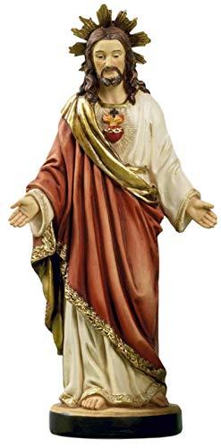 Artículos Religiosi by Paben Estatua Sagrada Corazón de Jesús en Resina cm. 13