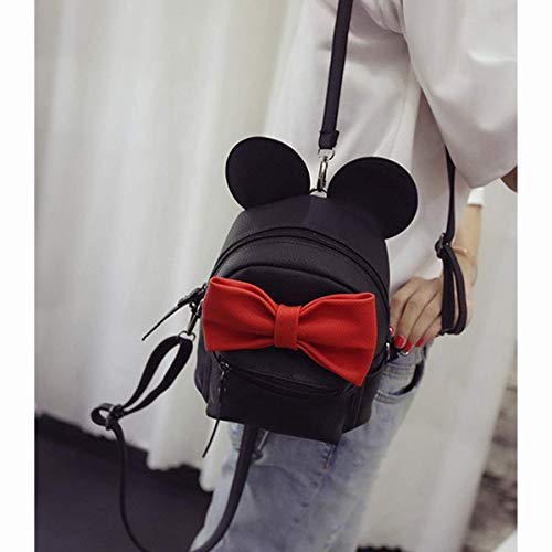 Bizarre Vogue Cute Small College Bag Bow Style Backpack for Girls (Black,BV1217) Image 2