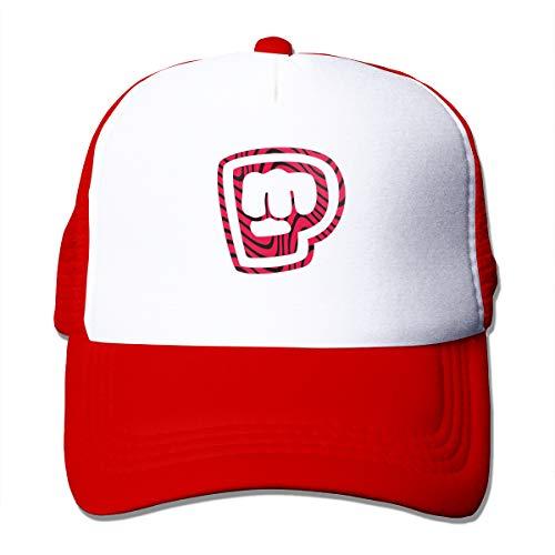 Abigails Home Pewdiepie Merch Einstellbare Baseballmütze Hip-Hop-Hut Herren Sportmützen Fashion Red