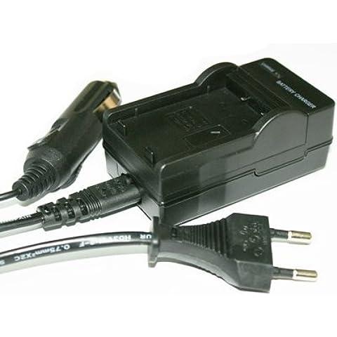 Carica batteria per NIKON EN-EL9 / ENEL9 compatibile con NIKON D60 DSLR, D40 DSLR, D40x DSLR, D5000 DSLR (Carica batteria da auto incl.)