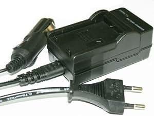 Chargeur LI-80b de batterie compatible avec appareil photo numérique Olympus T-100 X-960 (chargeur de voiture incl.)