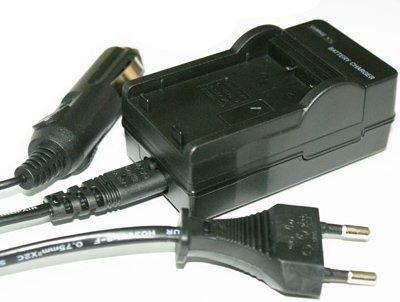 Carica batteria per SONY NP-FT1 / FR1 NP compatibile con Sony Cybershot DSC-F88, T30, T50, P100, P120, P150, P200, G1, v3, W1 (Carica batteria da auto incl.)