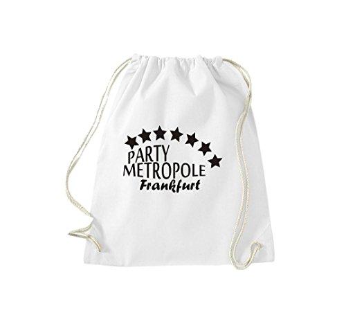 Turnbeutel Party Metropolis Francoforte Your Bag Gymsack Cult Bag White