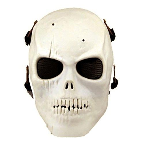 Softair Maske Totenkopf Schädel Vollschutzmaske (Weißen Maske Schädel)