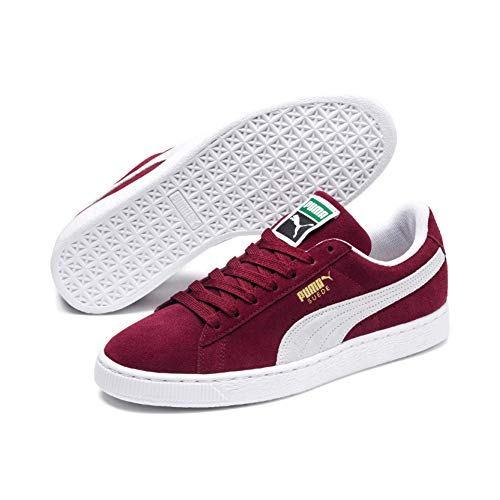 Puma - Suede Classic+ - Baskets mode - Mixte Adulte - Rouge (Burgundy/White 75) - 37.5 EU