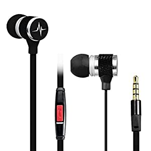 NEW 2016 Premium Universal Tangle Free 3.5mm Earbuds, Earphones With Microphone by Denali Audio