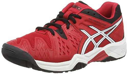 Asics Gel-resolution 6 Gs, Chaussures de Tennis Mixte enfant Rouge (Fiery Red/Black/White 2390)
