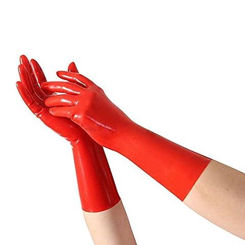 EXLATEX Rubber Secrets Short Latex Mixed Toes Poignet Gants Fetish Costume Accessoire