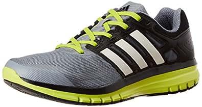 adidas Men's Duramo Elite M Grey and Neon Mesh Running Shoes - 7 UK