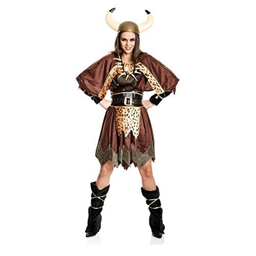 nger-Kostüm Damen Wikingerin-Kostüm Frauen Größe 44/46 ()