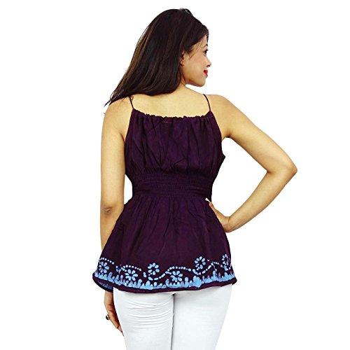 Batik Impression Robe Rayonne Smockée Été Usure Supérieure Pour Femmes Marron Clair