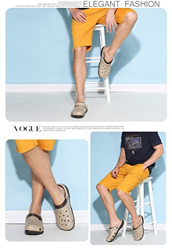 Talón Vwu Marrón Se Zuecos Sirven Sandalias Playa De 4 Amantes Verano Deslizan Zapatillas Sin Mujer Zapatos Color Zuecos De qxH0Sq4z