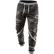 Yonglan Hombres De Algodón De Carga Secundarios Combate Pantalones De Trabajo Con Elástico Pantalones militares de… dG1JOMFMGO