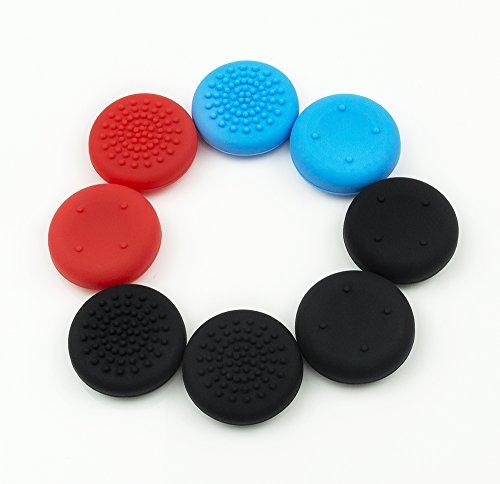 Incavi per i pollici per Nintendo Switch Cappucci Pack Thumb Grips 4 Nero Rosso 2 2 Blue Manufacturer