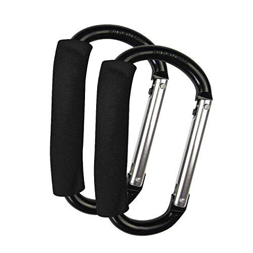 ESYN 2x Buggy clip di grandi dimensioni a colori carrozzina passeggino Borsa della spesa clip Holder Hook