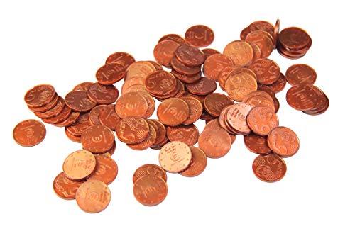 WISSNER aktiv lernen - Euro Spielgeld zum Rechnen 100 x 5 Cent Münzen -