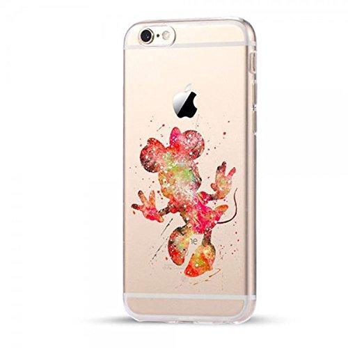 Disney Minnie Maus Schutzhülle Appel Iphone Serie TPU transparent Silikon Case Appel Iphone 6/6S Comic Cartoon Hülle -AcAccessoires #0027 (Iphone 6/6S)