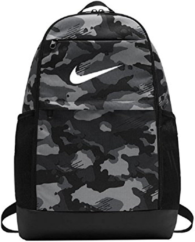 Nike NK brsla M bkpk-AOP, Mochila Unisex Adulto, Unisex Adulto, BA5973-021, Grigio Scuro/Nero/Bianco, MISC