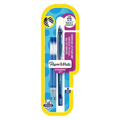 paper-mate-erasable-gel-boligrafo-con-punta-media-de-07-mm-y-2-recambios-color-azul