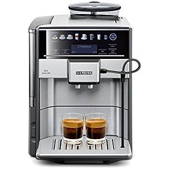 Siemens TE617503DE Kaffeevollautomat (1500 Watt, Direktanwahl durch Sensorfelder, oneTouch DoupleCup, elektronischer Füllstandssensor) edelstahl/mittelgrau [Altes Modell]