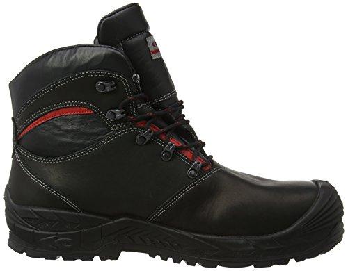 Cofra glenr S3Noir en Cuir Gore-Tex imperméable avec couvre-orteils en acier de sécurité à lacets Bottes Noir