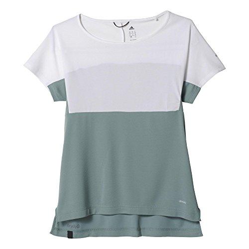 adidas S95603 Maillot Femme Vert/Blanc