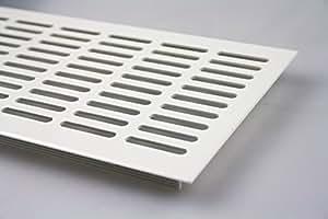 Grille d'aération à encastrer en aluminium Blanc 130 x 1000mm