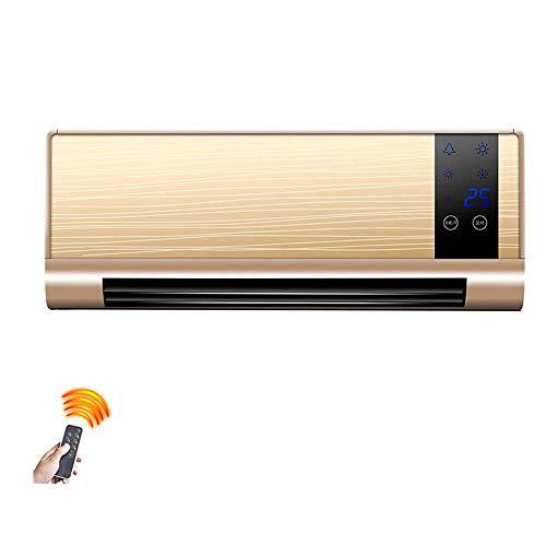 L@LILI Portable Wand-Fernbedienung Heizgerät High-Power Haushalt Energiesparende Und Energiesparende Badezimmer Klimaanlage 4 Datei 2000W