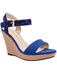co uk blue wedge shoes bags