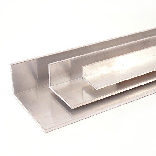 Aluminium Winkel Winkelprofil Aluprofil ungleichschenklig, Oberfläche blank gezogen, Abmessung 80 x 40 x 4 Länge 2000 mm