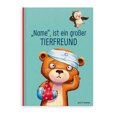 YourSurprise Personalisiertes Kinderbuch: großer Tierfreund., Kinderbuch mit Namen PERSONALISIERBAR, Hardcover